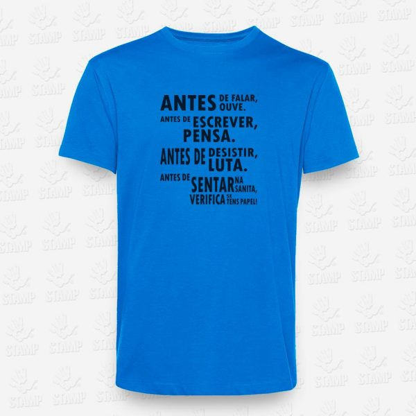 T-shirt Antes de Verifica – STAMP – Loja Online