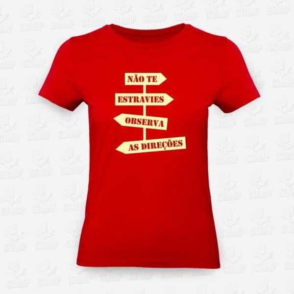T-shirt Feminina Direções – STAMP – Loja Online