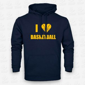 Hoodie I love Basketball – STAMP – Loja Online de T-shirts