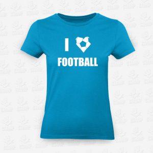 T-shirt Feminina I love Football – STAMP – Loja Online