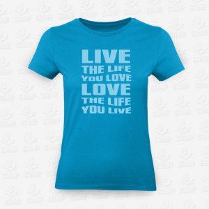 T-shirt Feminina Live Love – STAMP – Loja Online