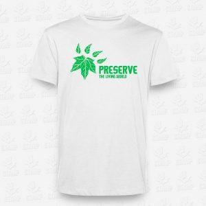 T-shirt Criança Preserve the living world– STAMP – Loja Online