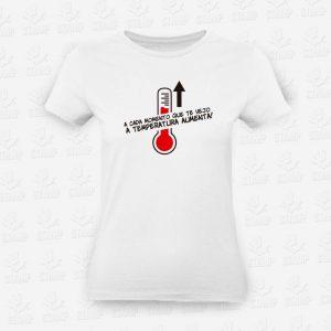 T-shirt Feminina Temperatura Aumenta – STAMP – Loja Online