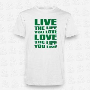 T-shirt Live Love – STAMP – Loja Online