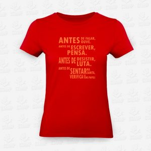T-shirt Feminina Antes de Verifica – STAMP – Loja Online
