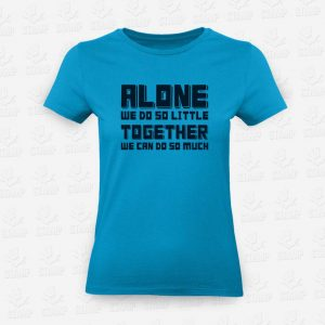 T-shirt Feminina Alone Vs Together – STAMP – Loja Online