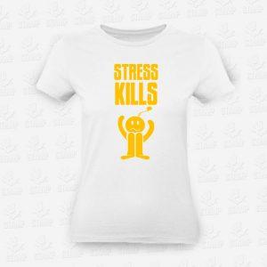 T-shirt Feminina Stress Kills – STAMP – Loja Online