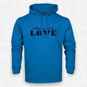 Hoodie Criança What we need is love – STAMP – Loja Online de T-shirts