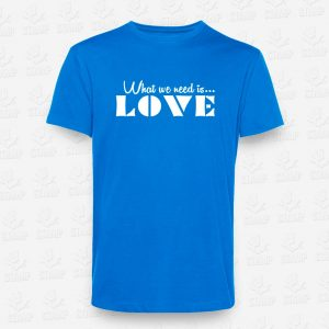 T-shirt Criança What we need is love – STAMP – Loja Online