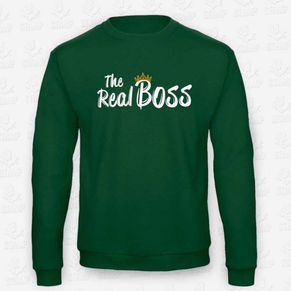 Sweatshirt The Real Boss – STAMP – Loja Online de T-shirts