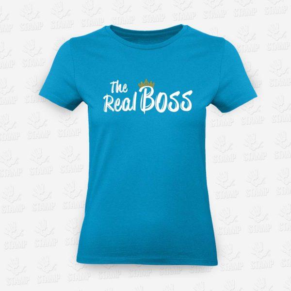 T-shirt Feminina The Real Boss – STAMP – Loja Online