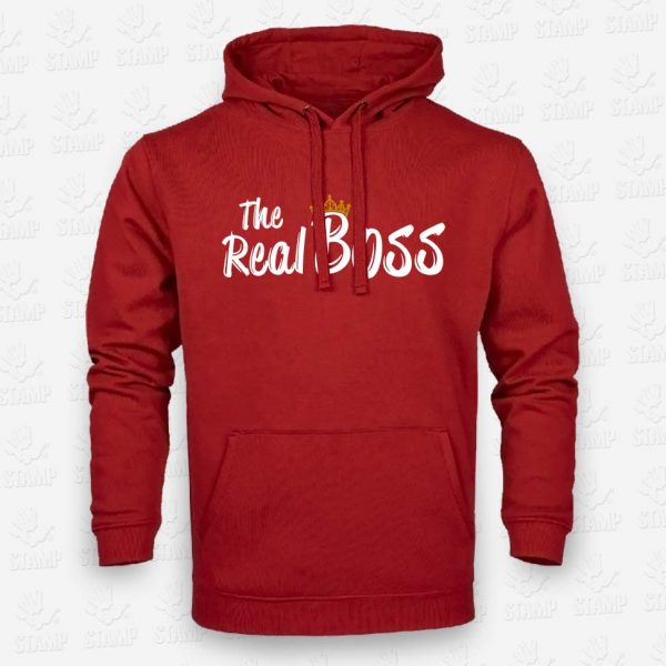 Hoodie The Real Boss – STAMP – Loja Online de T-shirts