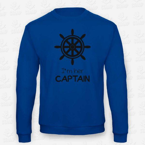 Sweatshirt CAPTAIN – STAMP – Loja Online de T-shirts