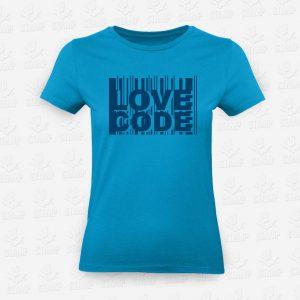 T-shirt Feminina Love Code I – STAMP – Loja Online