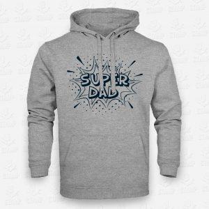 Hoodie Super Dad – STAMP – Loja Online de T-shirts