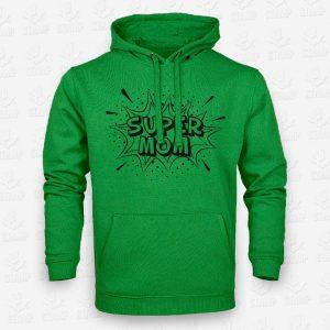 Hoodie Super Mom – STAMP – Loja Online de T-shirts