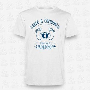 T-shirt BEBÉ A CAMINHO - Padrinho aceitas? – STAMP – Loja Online